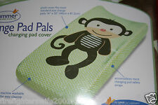 Summer Infant Monkey Changing Pad Cover green brown new