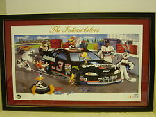 AUTO Framed Dale Earnhardt Sr Bugs Bunny Looney Tunes Intimidators NASCAR Litho