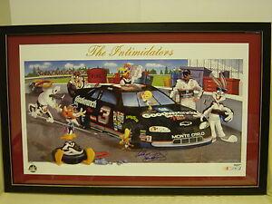 AUTO Framed Dale Earnhardt Sr Bugs Bunny Looney Tunes Intimidators NASCAR Litho