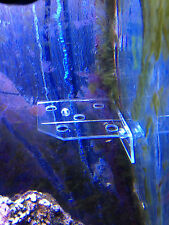 Clear Acrylic Small Corner Frag Rack Will hold 5 Frag plugs or coral rocks
