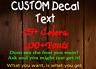 Custom Vinyl Lettering Personalized Custom Vinyl Decal Sticker Window Wall Name