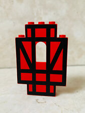 LEGO Castle 4444p03 Red Wall Panel black stripe set 6067 10000 Guarded Inn used