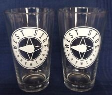 Two - West Side Brewing Glasses 16 ounce Cincinnati Ohio