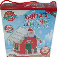 Grafix Build Your Own 3D Foam Christmas Santa House Craft Kit Toy