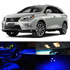 19x Blue Interior LED Lights Package Kit for 2010-2015 Lexus RX350 RX450H