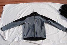 Gray & Black GORE BIKE WEAR Soft Shell Fleece Lined Windstopper Jacket Large