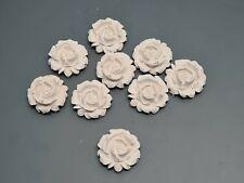 12 Pieces, Decorative Plaster Flowers, Home Décor, Ceiling Design, Art Design