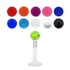 1 Bio Flex Labret Lip Ear Flexible 16g Acrylic Colour Ball  6mm 8mm 10mm #B3