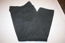 Woolrich Men's Grey Heavy Wool Blend Pants 32 x 28 Warm Outdoors Suspenders USA