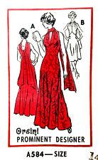 """Vintage 1970's Sewing Pattern Prominent Designer Orsini Halter Neck Dress B 36"""""""