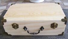 """Unfinished  Wood Craft  Suitcase Trinket Storage Box Pet Urn 9 1/2"""" X 6"""" SML"""