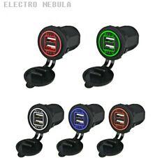 Presa accendisigari Doppia USB Caricabatteria Cellulare per Auto Camper 12v/24v