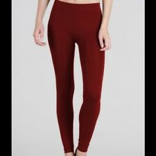 Solid Burgundy Red Leggings by Niki Biki One Size