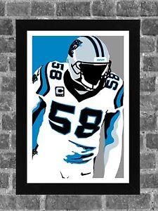 Carolina Panthers Thomas Davis Portrait Sports Print Art 11x17