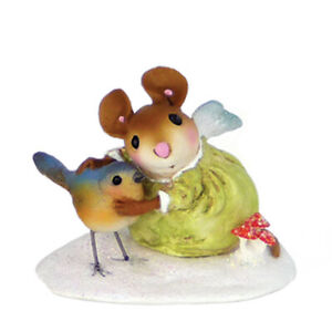 Wee Forest Folk LOVING ANGEL, WFF# SA-3, Vintage Snowdrops Series, Mouse