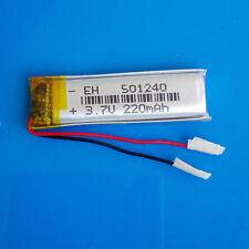 3.7V 220mAh Lipo Polymer Battery 501240 for MP3 MP4 GPS PSP Headset Smart watch