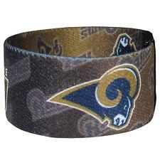 NEW! Saint St Louis Rams Stretch Blue Gold Bracelet NFL Wristband Power  Band