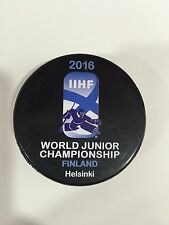 2016 JUNIOR U20 IIHF Helsinki  Finland  hockey game puck WORLD CHAMPIONSHIP
