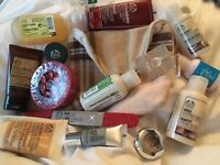 Body Shop Mixed bundle lot eye shadow Shower cream gel hand soap bag  Gift? New