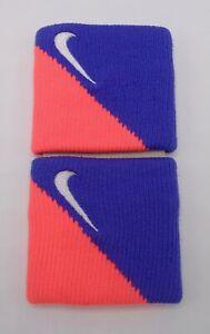 Nike Drifit Singlewide Bandes Poignet Chaud Lave / Perse Violet / Blanc