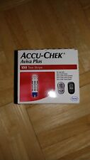 ACCU CHEK AVIVA PLUS 100 CT TEST STRIPS EXP 10-31-2018 NIB - LISTING IS ONE BOX!