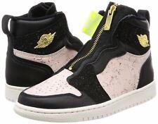 best website 7ee64 581b1 Nike Airjordan 1 Hoch Reißverschluss Damen Schwarz Phantom Siltstone  Rot Gold