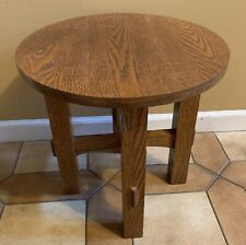 Mission Arts & Crafts style Round Lamp End Table