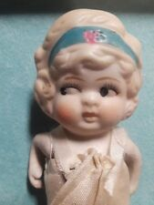 "china bisque doll 1920's 6"" tall Frozen Charlotte made in Japan articulated arms"