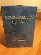 DOLCE  GABBANA LIGHT BLUE POUR HOMME EAU INTENSE SPRAY 100ML/3.3oz SEALED BOX