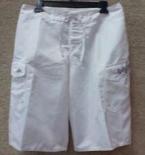 "Quiksilver Men's Board Shorts ""Manic SLD"" -- White"