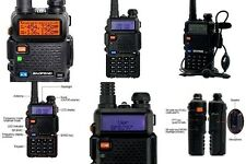 Portable Radio Scanner Handheld Police Fire Transceiver VHF FM EMS HAM Two Way