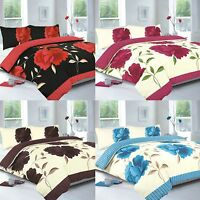 DUVET QUILT COVER BEDDING SET WITH PILLOWCASES SINGLE DOUBLE KING SUPER KING