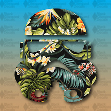 """Storm Trooper Hawaii'n Flower Print Tropical 6"""" Euro Custom Vinyl Decal Sticker"""