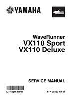 Yamaha VX110 SPORT &  VX110 DELUXE Cruiser 2005 2006 2007 Service Manual