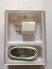 Genuine Apple Lightning USB Cable for iPhone 6s/Plus/5/SC +Wall Adapter Charger