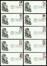 #2819-2828 29c Silent Screen Stars, Art Craft FDC ANY 4=