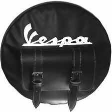 VESPA SPARE WHEEL COVER  WITH POCKET HAND MADE LEATHER MORE COLOURS