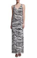 "Trina Turk ""Macee"" Black & White Zebra Printed Maxi Dress Lined Size 10 $378"