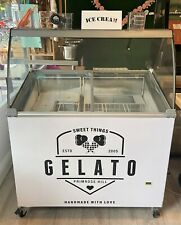 More details for interlevin/tefcold ic300sc white - 7 tub ice cream freezer with canopy