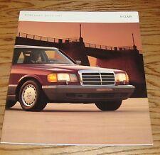 Original 1987 Mercedes-Benz S-Class Deluxe Sales Brochure 87