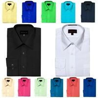 Dimension Dress Shirts Classic Fit Long Sleeve Spread Collar Many Colors