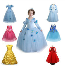 Girls Kids Princess dress Fancy Dress Up Cosplay Costume Party Hooded Cape dress