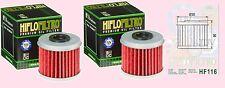 2x HF116 Oil Filter Honda CRF CRF150 R/RB 2007-16, CRF250 2004-16 & CRF450 02-16