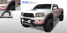 "BLACK PAINTABLE Pocket Rivet Fender Flares 05-11 Toyota Tacoma 60.3"" Bed Only"