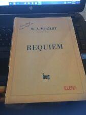 W.A. Mozart ; Requiem, Hug & CO Zurich , Nasco Petroff Signature on cover