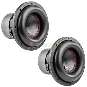 "10"" Subwoofers Dual 4 Ohm 900 Watts RMS Car Audio Audiopipe TXX-BDC4-10 Pair"
