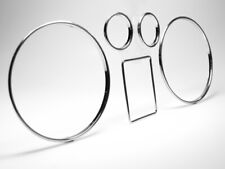 Chrom Tachoringe Dial-Rings Tacho Ringe Audi A3 & A4 Volle Tiefe CLIPSEN
