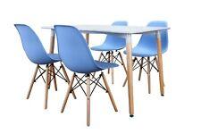 Conjunto de Mesa Wad 120 + 4 sillas Tower azules