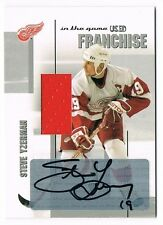 2003-04 ITG Used Signature Series Franchise Autograph Jersey Steve Yzerman /10