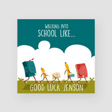 Personalised Handmade Good Luck At School Card - First Day, Kids, Son, Daughter